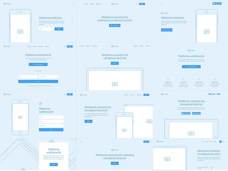 Header wireframes web design website illustrator photoshop sketch psd ui kit wireframe