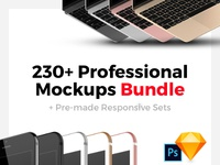 230+ Professional Mockups & Responsive Collections