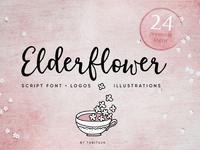 Elderflower Script Font & Logos