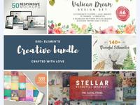 The Ultimate Creative Bundle – 850+ Design Elements