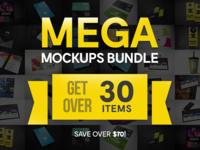 Mega Mockups Bundle – 30 Handcrafted Mockups