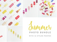 Summer Photo Bundle Ice Lollies