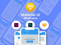 Baseframe – Wireframe UI KIT 130+ Sketch – XD – PSD Template