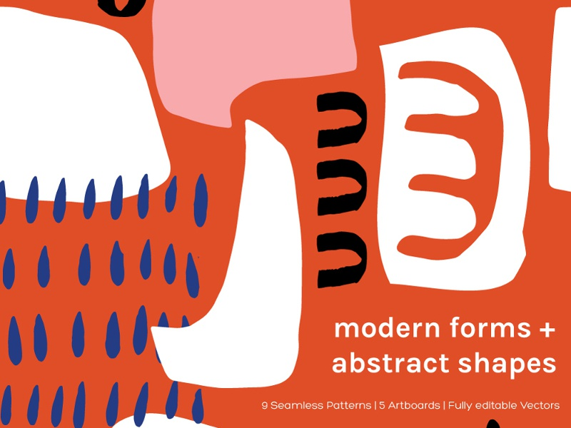 Modern Forms Abstract Shapes Artboards Seamless