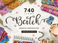 Batik Collection And Art Constructor - 740 Items