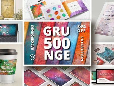 500 Grunge Backgrounds Collection