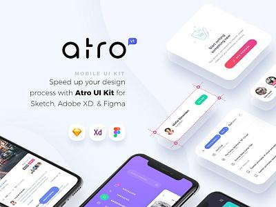 Atro Mobile UI Kit mobile app design ui kits ui mobile design figma adobe xd sketch ui kit mobile ui kit