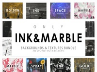 ONLY INK & MARBLE BACKGROUNDS & TEXTURES BUNDLE – 900+ IMAGES!