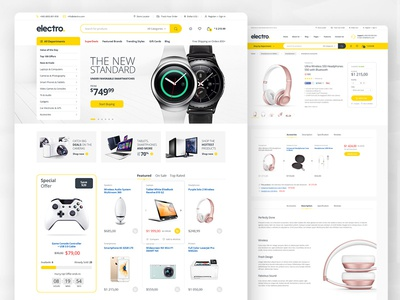 Electro - Electronics eCommerce PSD template modern shop clean photoshop psd ecommerce
