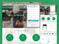 Become A Tasker Landing Page