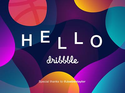 Hello dribbble thanks invite dribbble debut hello