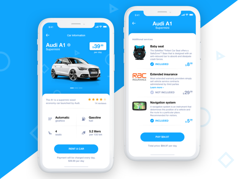 Car Rental - App Concept by Andrew Kalyuzhin on Dribbble