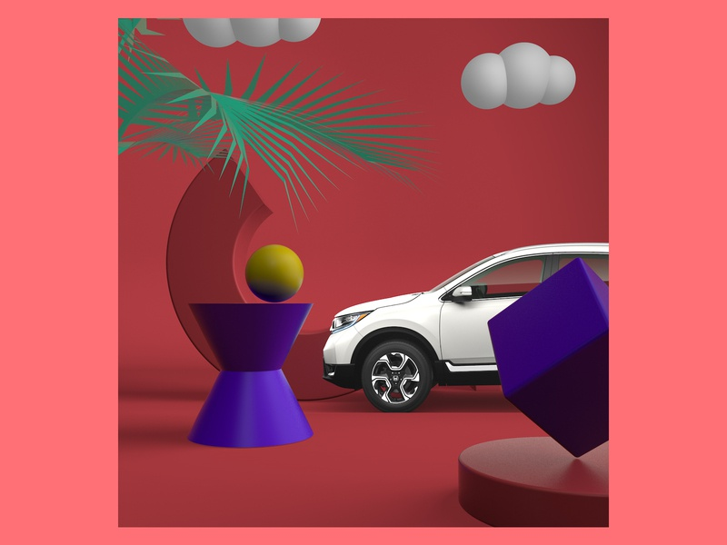 HONDA SPACE abstract animation 3d motion colors