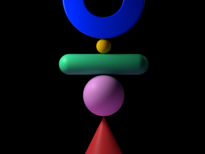 Equilibrio abstract geometry 3d motion colors debut
