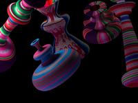 Almas Aymaras flotantes abstract art direction design art direction texture geometry motion debut colors 3d art 3d