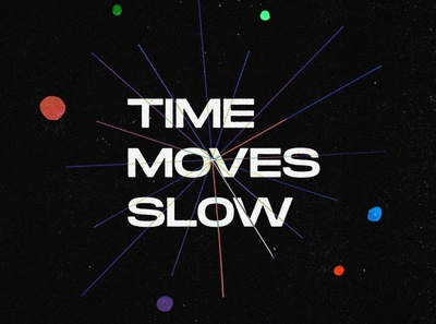Time moves slow art direction draw texture loop ilustracion motion colors illustration 2d debut animation