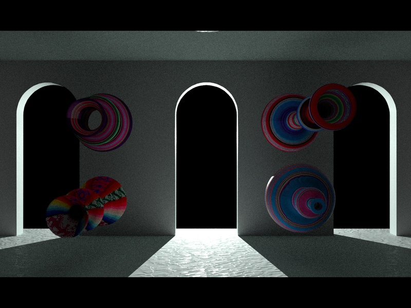 DESIERTO texture loop abstract geometry 3d motion colors illustration animation debut