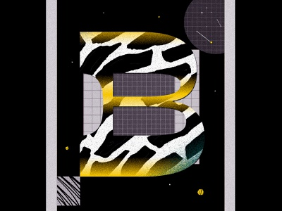 B tipo typo typogaphy texture abstract colors illustration debut 2d