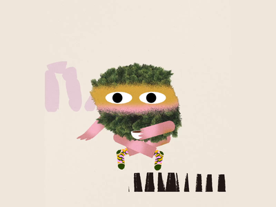 Observando el entorno gif animals loop ilustracion motion colors illustration animation debut 2d