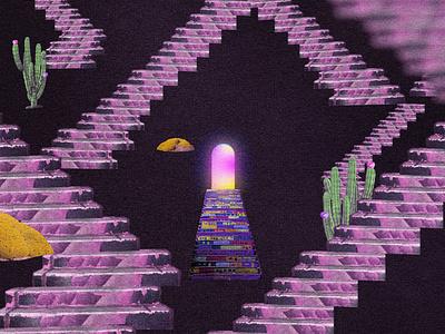 Escaleras graphic design ilustracion motion colors illustration animation debut 2d