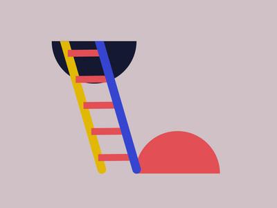 Escalera al cielo colors illustration 2d