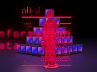 Alt-J abstract geometry motion colors 2d 3d animation