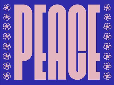 PEACE love graphic illustration digital illustration illustrator typography type lettering peace graphic design