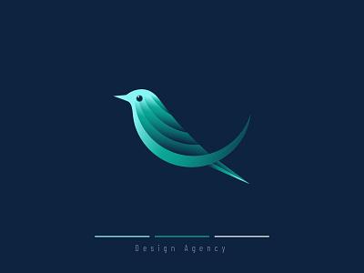 Bird Modern Gradient logo design agency minimal branding idenity graphic art adobe illustrator bird illustration bird logo bird modern gradient logo bird modern gradient logo birds vector mark modern logo gradient logo modern bird