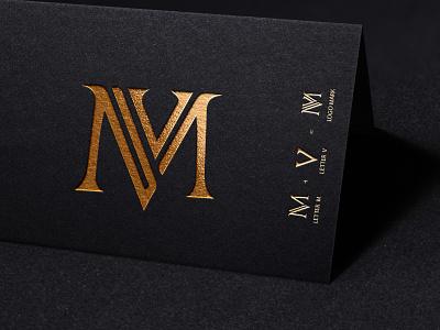Brand Identity - MV Lettering Logo letter mv logo text logo vector symbol creative monogram type