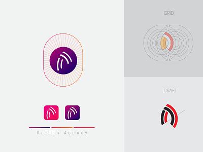 Line art A Minimal Letter logo vector color gradient logo grid logo a logo linework mark identity branding logo minimalist logo minimalist art lineart