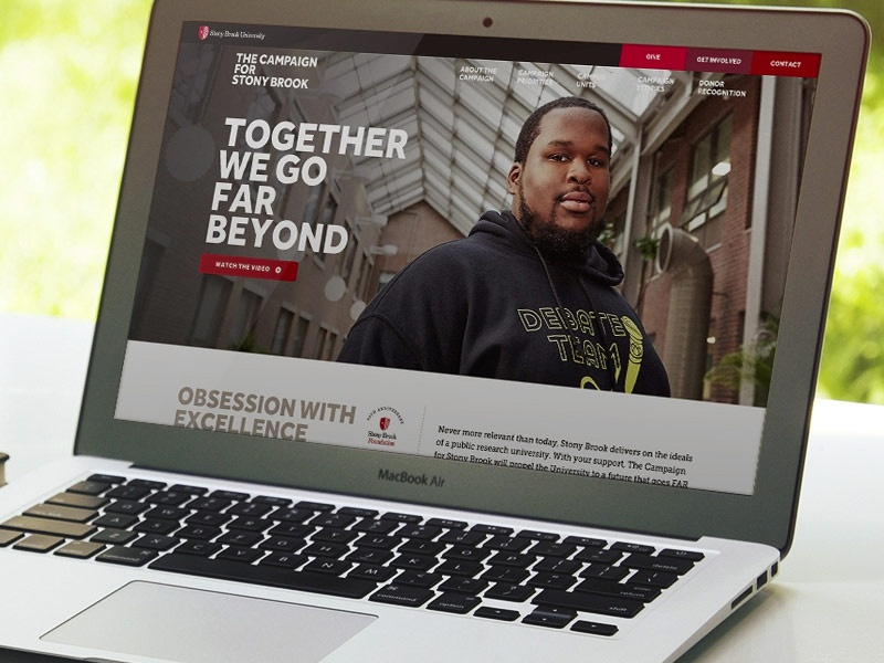 Campaign for Stony Brook University Website web campaign university college higher ed layout website