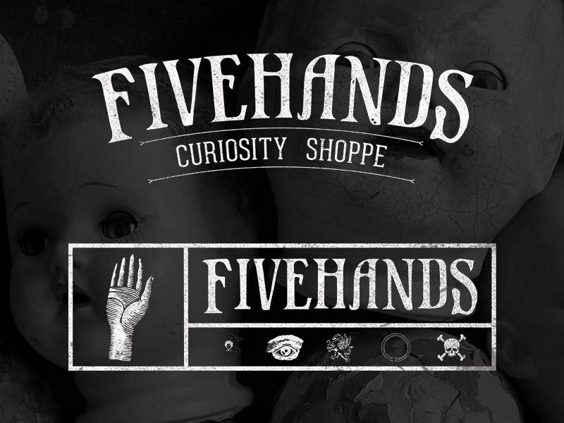 Fivehands Curiosity Shoppe Logos store retail logo creepy logos brand branding