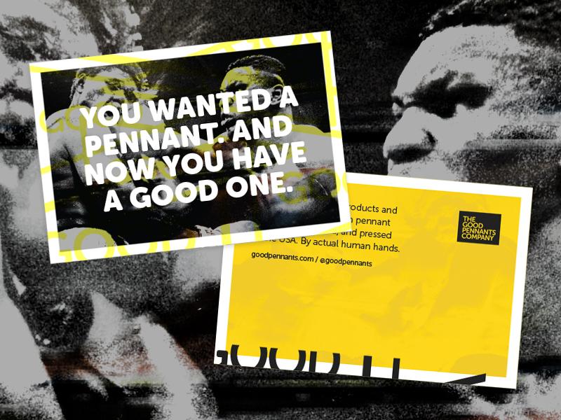 Good Pennants Postcards yellow mike tyson good pennants print post cards postcards