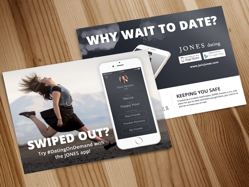 JONES Dating Postcards postcard print app dating jones postcards
