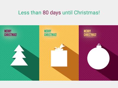 Less than 80 days until Christmas!