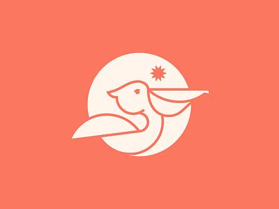 Pelican logo development branding sun bird icon pelican icon south carolina brand development graphic bird logo pelican logo logo shapes vector bird pelican