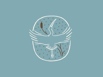 Woodstork organic logo graphic branding heron woodstork state park brand development southern illustration bird icon bird illustration cattail bird logo south carolina bird