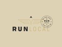 Run Local shapes typography wing icon wing logo wings running logo minimalist logo lockup run logo run local logo local brand identity identity compass brand development badge branding arrow