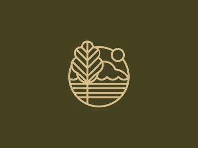 Lakeview simplified lake logo logo mark icon minimal brand development branding identity sc state park tree icon lakeview circle sun vector shapes tree lake