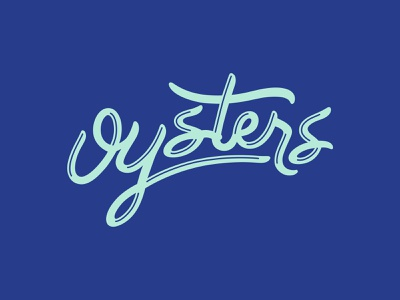 Oysters oysters oyster south carolina sc type word mark cursive script typeography ocean hand lettered hand type custom type vector lettering