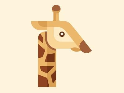 Giraffe Logo logo giraffe graphic shapes african africa zoo tan logos vector long neck brown