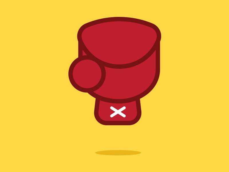 Floating boxing glove shapes outline yellow box fight vector fighting fist red boxing glove glove boxing
