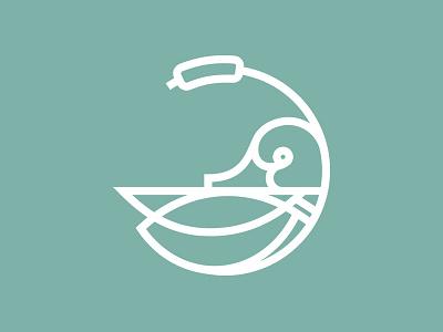 Duck mallard duck icon duck logo wing green marsh cattail duck