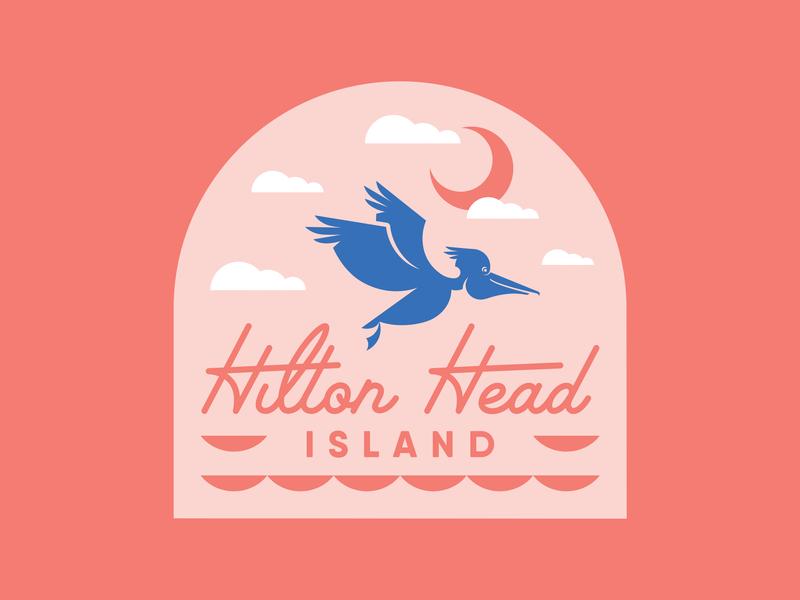 Hilton Head Island Geofilter beach ocean coral water south carolina blue clouds moon island hilton head island hhi pelican snapchat geofilter