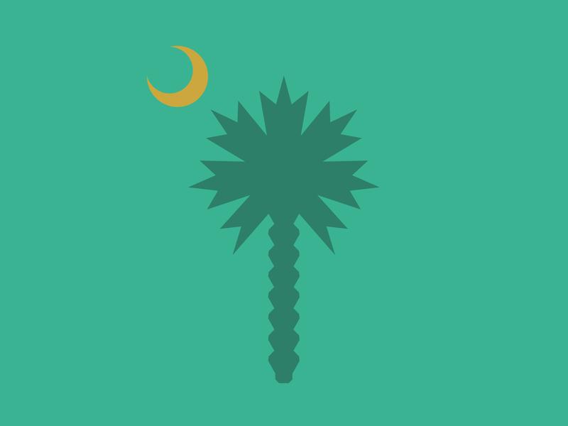 Palmetto state shapes palmetto tree tree vector green sc south carolina cresent moon palm palm tree palmetto