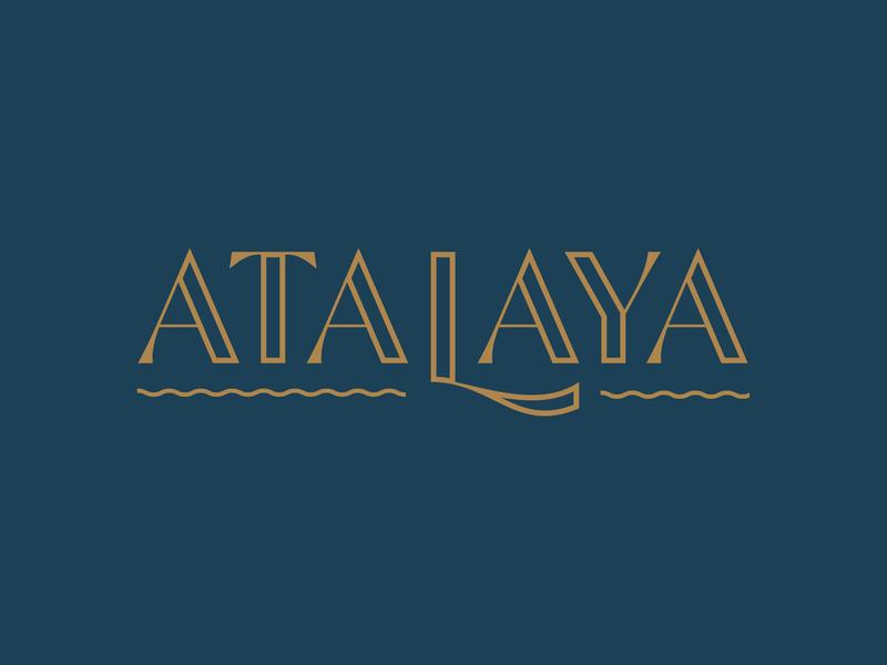 Atalaya state park blue gold typeography south carolina logotype identity logo branding brand development castle waves sc atalaya