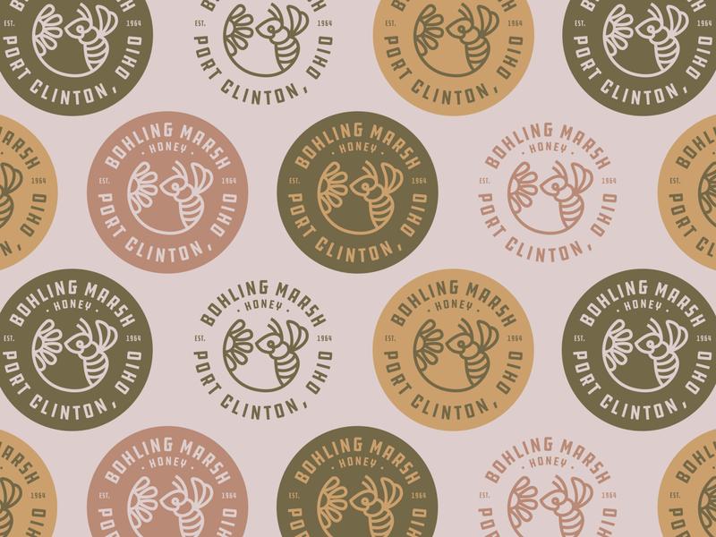 Bohling Marsh Honey lake erie wing insect flower bee icon icon logo line vector ohio honeybee honey bee bee marsh honey