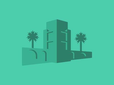 Castle identity brand development branding atalaya state vector tree shapes sc state park south carolina castle palm palm tree palmetto
