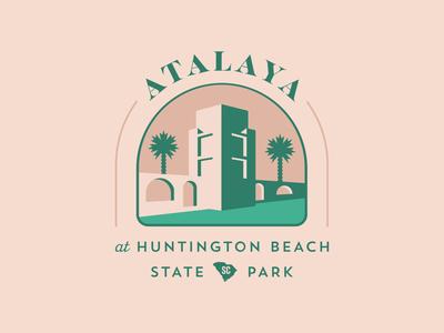 Atalaya green brand development branding identity logo tree palm tree palmetto south carolina state park huntington beach castle atalaya