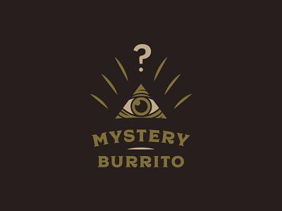 Mystery Burrito typography mystery shapes icon logo mark lockup brand development branding identity logo triangle eye illuminati burrito